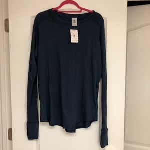 NWT Free People Navy Long Sleeve